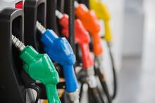 Gas Pump Nozzles At Gas Station