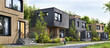 Leinwandbild Motiv Modular homes exterior designs of modern architecture