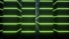 Cabinets Neon Data Center Modern Equipment Datacenter Techno Led Interior 4k