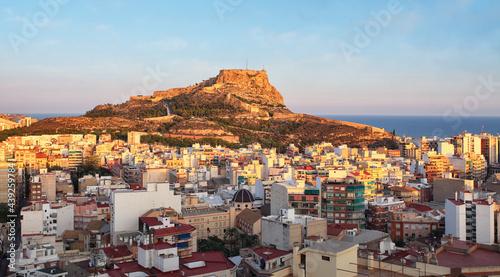 Fotografie, Obraz Alicante - Spain, View of Santa Barbara Castle on Mount Benacantil