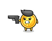 The Cute Medal Character Shoot With A Gun