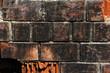 burnt red brick background