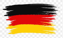 Abstract Germany Flag Using Brush Style . Vector Illustration