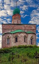 Boris & Gleb Cathedral. Years Of Constructin 1522 - 1524. Boris & Gleb Monastery, Village Borisoglebsky, Russia