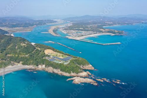 Photo 高知県四万十市 四万十川最下流の風景