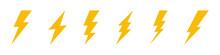 Different Flash Icon Symbol Set.