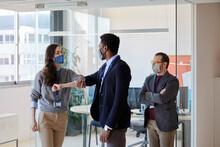 Co-worker Businessmen In The Office