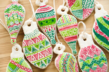 Homemade Christmas Doodle Ornaments