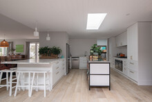 Large Country Kitchen With Skylight