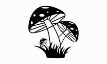 Mushroom, Mushroom Silhouette, Mushroom Vector And Clip Art