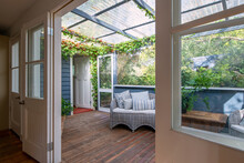 Sunroom Of A Country Cottage