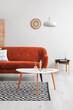 Leinwandbild Motiv Interior of living room with stylish sofa