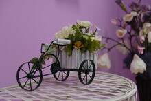 Flower Pot In The Form Of A Vintage Tricycle