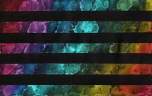 Watercolour Stripes On Black
