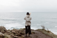 Person Looking At The Sea