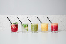 Different Types Of Cold Pressed Drinks.