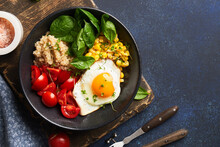 Bowl With Healthy Breakfast Food