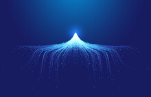 Line Particles Converge In The Shape Of Snow And Ice Peaks Internet Technology Background.