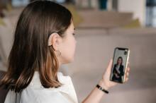 Deaf Female Entrepreneur Making Video Call