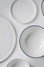 White Plates, Bowls And Dishes