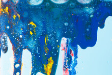 Abstract Colorful Background Made With Paint In Water