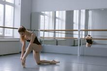 Dancer Raking Break During Intensive Rehearse