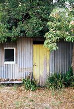 Rustic Old Garden Shed, Shot On Film