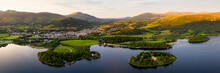 Derwentwater And Keswick Aerial The Lake District