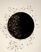 Abstract Minimal Celestial Painting