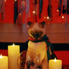 Tarot Divination Cat