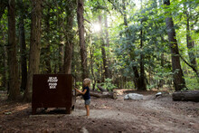 Little Girl Unlocks The Bear Box To Get Her Food While Camping