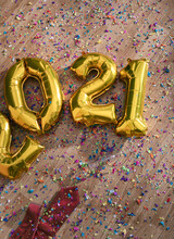 Happy New Year 2021 With Confetti