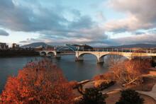 John Ross Bridge At Sunrise