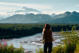 Woman traveling Alaska