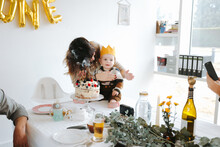 One Year Old Birthday Party With Family