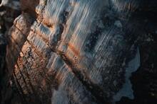 Ice Frozen On A Rock