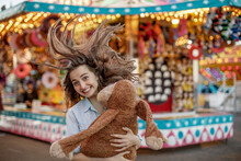 Young Woman At The Fair
