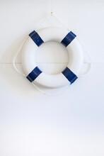 Lifesaver Ring Hung On Wall