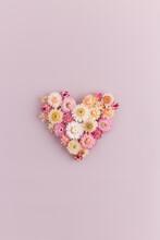 Pink Strawflower Valentine's Flat Lay