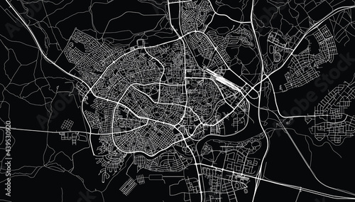 Canvas Print Urban vector city map of Be'er Sheva, Israel, middle east