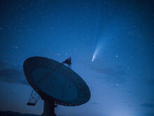 Comet NEOWISE Over Observatory