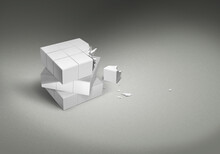 3d Cube Rubik Rubiks Broken