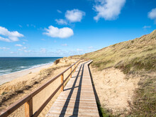 Wooden Pier Along The Beach, Sylt, Schleswig-Holstein, Germany