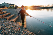 Fishing At Sunset In Ohio.