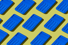 Blue Electronic Calculators Mosaic