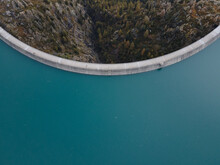 Water Dam Aerial View, Renewable Energy