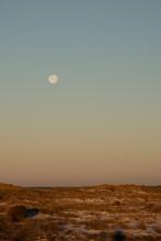 Full Moon Over Beach Dunes
