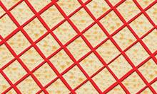 Soda Crackers In Diagonal Arrangement