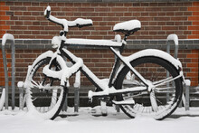 Bicycle In The Snow