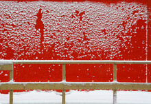 Red Wall With Snowflakes